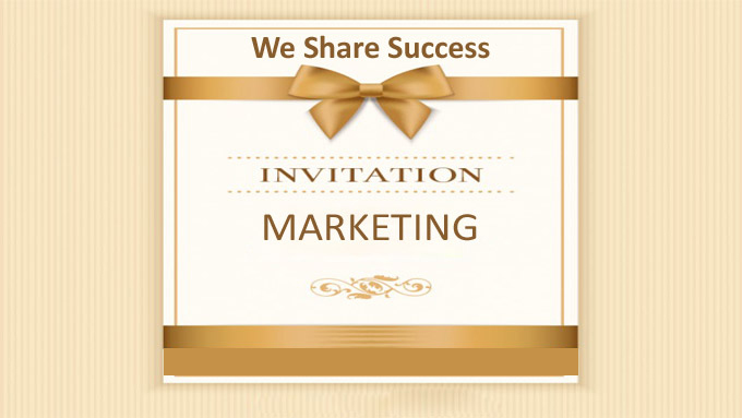 we share success - invitation marketing